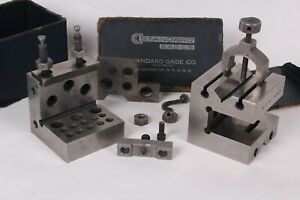 Standard Gage Co Angle Plate Square Parallel Setup Block W Clamp In Slot Set
