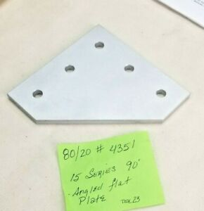 80 20 Aluminum 5 Hole 90 Joining Plate 15 Series P n 4351