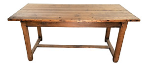 19th Century French Oak Rustic Low Dining Table