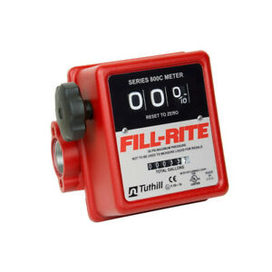 Fill rite 3 Wheel Mechanical 1 Inch 50 Psi 5 To 20 Gpm Fuel Tank Meter open Box