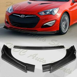 For 2013 2016 Hyundai Genesis Coupe Carbon Look Ks Style Front Bumper Body Lip