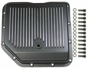 Transmission Pan Black Finned Aluminum Fits Chevy Turbo 350 Cbc Th 350 Trans