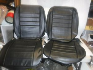 1965 Chevelle El Camino Front Bucket Seat Covers Black