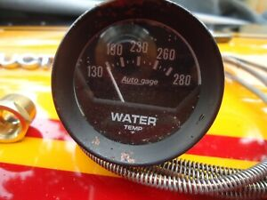 Auto Meter Auto Gage Water Temperature Gauge Mechanical Used Good Condition