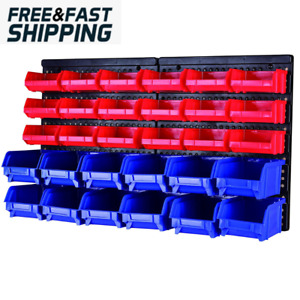30 bin Wall Mount Parts Rack storage For Your Nuts Bolts Screws