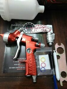 Sagola 4600 Xtreme Digital 1 3 Dvr Clear Spray Gun Sata 5500 Iwata Ws 400 Walcom