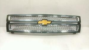 Grille For Silverado 1500 Pickup Like New Oem Assy Gry 22829399