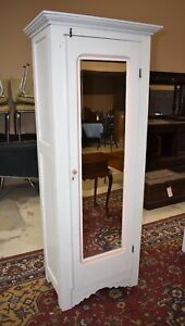 Antique White Painted Bedroom Wardrobe Closet Armoire