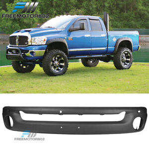 Fits 02 09 Dodge Ram 1500 2500 Black Front Bumper Face Bar Steel