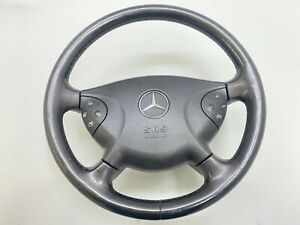 Mercedes W211 E320 Steering Wheel With Horn And Buttons Leather 2003 2005 Oem