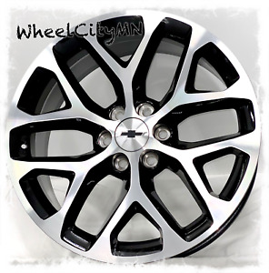 26 Inch Gloss Black Machined 2017 Chevy Silverado Suburban Snowflake Rims 6x5 5