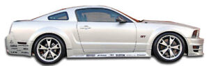 For 05 14 Ford Mustang Duraflex Gt500 Wide Body Side Skirts 2pc 104912