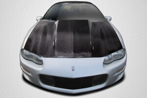 For 98 02 Chevrolet Camaro Carbon Fiber Cowl Hood 115519