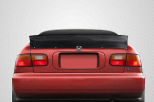 For 92 95 Honda Civic 2dr Carbon Fiber Rbs Spoiler Wing 115541