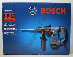 Bosch 1 1 8 inch 8 0amp Sds Rotary Hammer Rh328vc With Vibration Control new