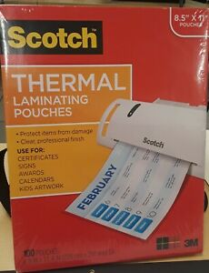 Scotch Thermal Laminating Pouches 100 pack 8 9 X 11 4 Inches Letter Size Sealed