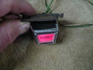 1966 1967 1968 Ford Mercury Mustang Galaxie Falcon Seat Belt Reminder Light