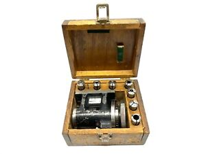 Woodlawn 2500 Horizontal Spin Collet Indexer Fixture W Collets Case