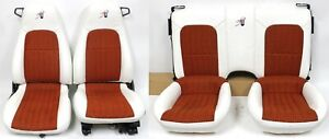 1993 2002 Chevrolet Camaro Ss Z28 White Leather Seats W Orange Houndstooth Used