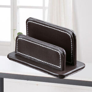 Business Card Holder Display Stand Pu Leather Business Card Case Name Card