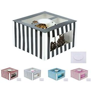 Cardboard Cake Boxes 10 6 Inch Tall Set With Boards Bakery Carrier Container