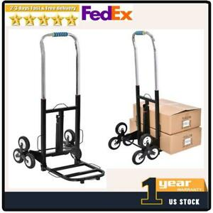 420lbs Stair Climbing Moving Dolly Hand Truck Warehouse Appliance Cart W 2x Rope