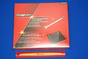 New Snap On 13 Piece Metric Flank Drive Plus Combo Wrench Set 7mm 19mm In Foam