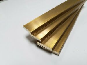 4 Pieces 1 4 X 1 C360 Brass Flat Bar 5 Long Solid 250 Mill Stock H02