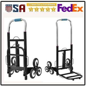 420lbs W 2x Rope Warehouse Appliance Cart Climbing Moving Dolly Hand Truck