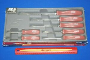 New Snap On Tools 100 Year 7 Piece Combination Screwdriver Set Red Sddx70amr
