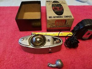 Hull Beaconlite Automobile Compass With Box Vtg Usa For Parts Or Repair
