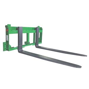 Ua Made In The Usa 36 Pallet Fork W 2 Trailer Receiver Hitch Fits John Deere