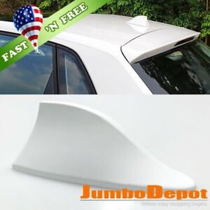 Us White Shark Fin Roof Mount Fm Am Radio Signal Antenna Universal Fit Honda Crv