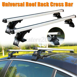 2pcs 48 Universal Car Auto Top Roof Rack Cross Tube Bars Cargo Luggage Carrier