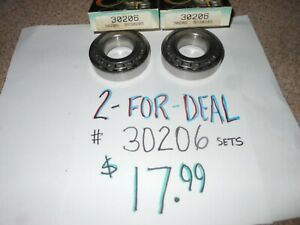 2 two 30206 Tapered Roller Bearings And Races free Shipping