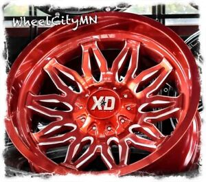 22 X10 Candy Red Milled Xd859 Gunner Wheels Fits 2018 Dodge Ram 1500 5x5 5 18