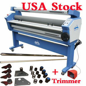 Hot 110v 63 Auto Cold Laminator Heat Assisted Laminating Machine With Trimmer