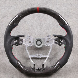 Carbon Fiber Flat Sport Customized Steering Wheel For Toyota Camry Corolla Rav4