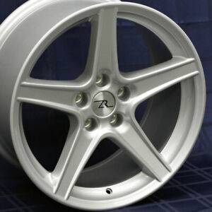 18 Silver Mustang Saleen Style Wheels Staggered 18x9 18x10 5x114 3 Sn95 94 04
