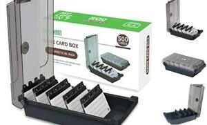 Business Card Holder Box File Storage Index Organizer Rolodex 500 Cards
