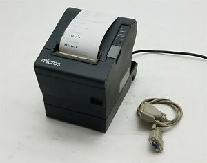 Epson Micros Tm t88iv Point Of Sale Pos Serial Thermal Receipt Printer M129h ps