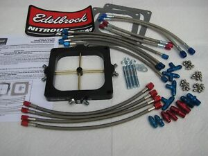 new Edelbrock Victor Jr Holley Dominator Nitrous Plate Kit 175 400hp W extra s