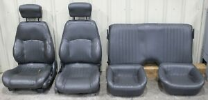 1997 2002 Pontiac Trans Am Ws6 Gray Leather Seat Set Front rear Used Gm cores