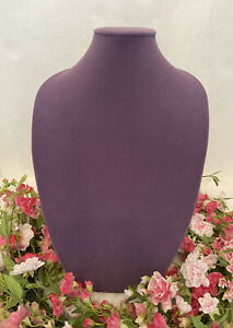 Purple Bust Form Necklace Jewelry Display Stand Holder Velvet Organizer 15 x10