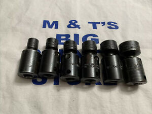 Proto Usa 3 8 Drive 6pc 6pt Sae Impact Universal Swivel Socket Set 3 8 3 4