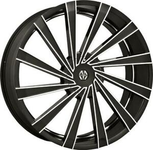 22 Inch 22x8 5 Massiv Vertagio Black Machined Wheels Rims 5x112 38