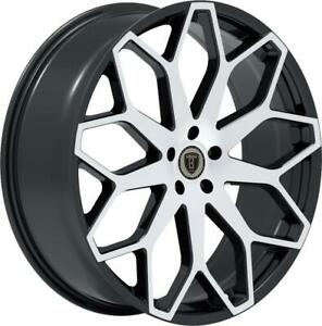 26 Inch 26x10 Borghini B28 Black Machined Wheels Rims 5x115 13