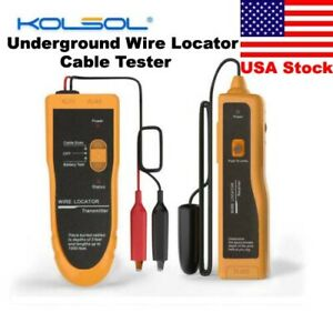 Kolsol F02 Underground Cable Locator Wire Tracer With Earphone Cable Tester Us