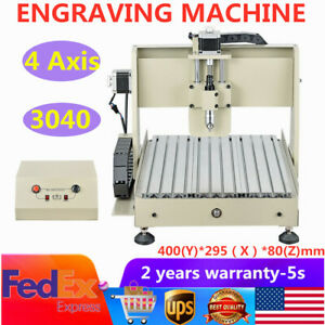 4 Axis Cnc3040 Router Engraver 3d Woodworking Drilling Milling Engraving Machine
