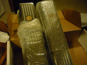 1958 1986 Sbc 350 Chevy Tall Aluminum Ball Milled Valve Covers pair W hole